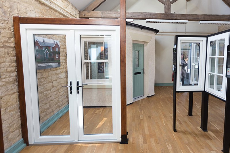 new window company timber doors showroom competition
