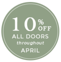 10 percent off doors from new window co