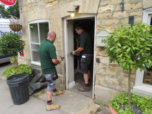 leadenham teahouse, new door installation, new window co, competition winners, inserting new door frame