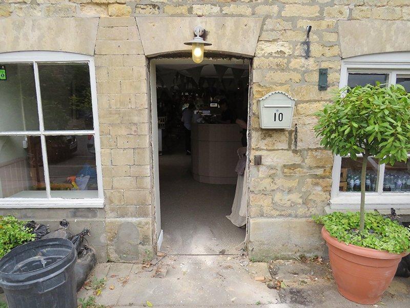 leadenham teahouse, new door installation, new window co, competition winners, empty door frame