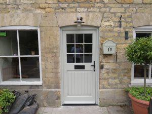 new window co, door installation, new timber door, leadenham teahouse, competition winners, lincolnshire