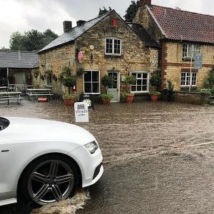 leadenham teahouse, flood water, flash flooding, competition winners