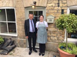 roy wakeman OBE, chairman of New Window Company, leadenham teahouse, new door, new window co, lincolnshire