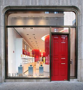 new window company, lincolnshire doors, famous doors, elizabeth arden, red salon door