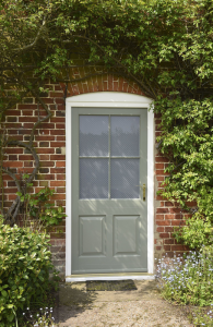 new window co, virtual quote, Belbroughton Door - Tent Grey with an Off-White Frame.